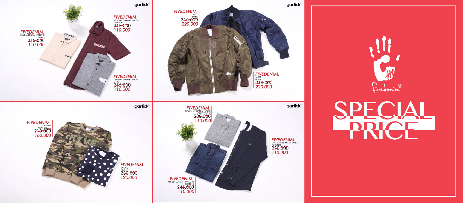Special Price from FIVEDENIM